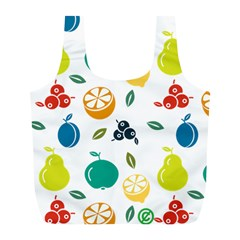 Fruit Lime Full Print Recycle Bags (L)