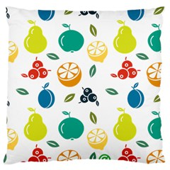 Fruit Lime Standard Flano Cushion Case (Two Sides)