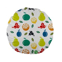 Fruit Lime Standard 15  Premium Flano Round Cushions