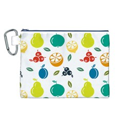 Fruit Lime Canvas Cosmetic Bag (L)