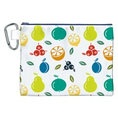 Fruit Lime Canvas Cosmetic Bag (XXL)