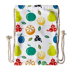 Fruit Lime Drawstring Bag (Large)