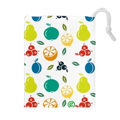 Fruit Lime Drawstring Pouches (Extra Large)