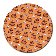 Helloween Moon Mad King Thorn Pattern Round Mousepads