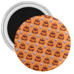 Helloween Moon Mad King Thorn Pattern 3  Magnets