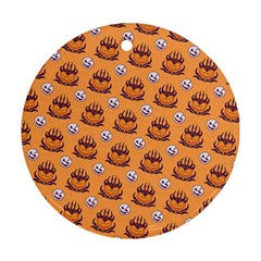 Helloween Moon Mad King Thorn Pattern Ornament (Round)
