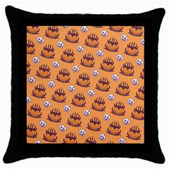 Helloween Moon Mad King Thorn Pattern Throw Pillow Case (Black)