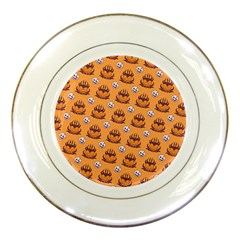 Helloween Moon Mad King Thorn Pattern Porcelain Plates