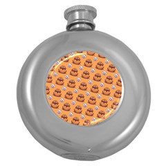 Helloween Moon Mad King Thorn Pattern Round Hip Flask (5 oz)