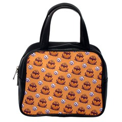 Helloween Moon Mad King Thorn Pattern Classic Handbags (One Side)
