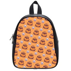 Helloween Moon Mad King Thorn Pattern School Bags (Small)