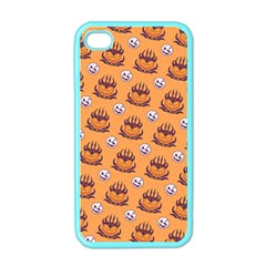 Helloween Moon Mad King Thorn Pattern Apple iPhone 4 Case (Color)
