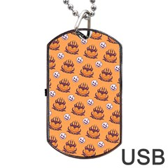 Helloween Moon Mad King Thorn Pattern Dog Tag USB Flash (Two Sides)