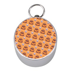 Helloween Moon Mad King Thorn Pattern Mini Silver Compasses