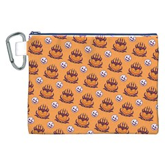 Helloween Moon Mad King Thorn Pattern Canvas Cosmetic Bag (XXL)
