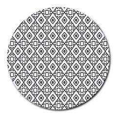 Triangel Plaid Round Mousepads