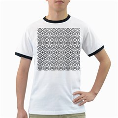 Triangel Plaid Ringer T-Shirts