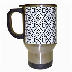 Triangel Plaid Travel Mugs (White)