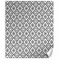 Triangel Plaid Canvas 20  x 24