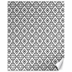 Triangel Plaid Canvas 11  x 14