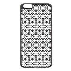 Triangel Plaid Apple iPhone 6 Plus/6S Plus Black Enamel Case