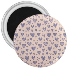 Heart Love Valentine Pink Blue 3  Magnets