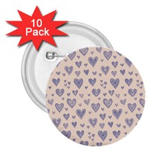 Heart Love Valentine Pink Blue 2.25  Buttons (10 pack)