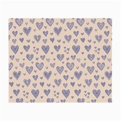 Heart Love Valentine Pink Blue Small Glasses Cloth