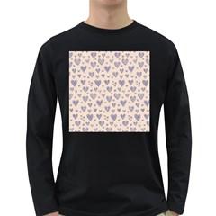 Heart Love Valentine Pink Blue Long Sleeve Dark T-Shirts