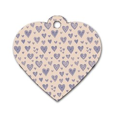 Heart Love Valentine Pink Blue Dog Tag Heart (One Side)