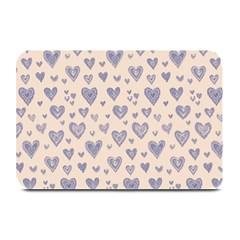 Heart Love Valentine Pink Blue Plate Mats
