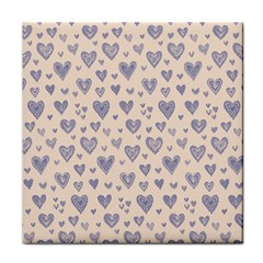 Heart Love Valentine Pink Blue Face Towel
