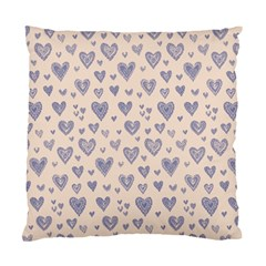 Heart Love Valentine Pink Blue Standard Cushion Case (One Side)