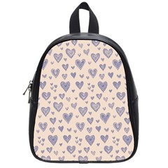Heart Love Valentine Pink Blue School Bags (Small)