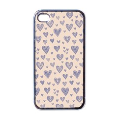 Heart Love Valentine Pink Blue Apple iPhone 4 Case (Black)