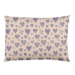 Heart Love Valentine Pink Blue Pillow Case (Two Sides)