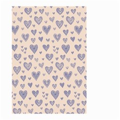 Heart Love Valentine Pink Blue Small Garden Flag (Two Sides)