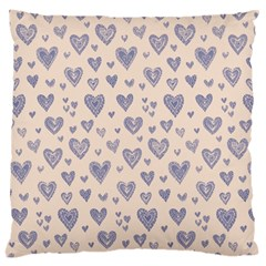 Heart Love Valentine Pink Blue Large Cushion Case (Two Sides)