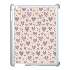 Heart Love Valentine Pink Blue Apple iPad 3/4 Case (White)