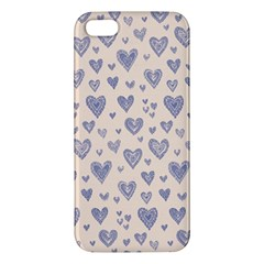 Heart Love Valentine Pink Blue Apple iPhone 5 Premium Hardshell Case