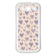 Heart Love Valentine Pink Blue Samsung Galaxy S3 Back Case (White)
