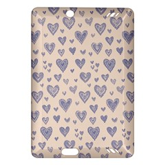 Heart Love Valentine Pink Blue Amazon Kindle Fire HD (2013) Hardshell Case