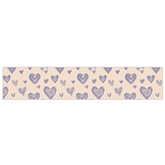 Heart Love Valentine Pink Blue Flano Scarf (Small)