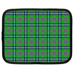 Tartan Fabric Colour Green Netbook Case (Large)