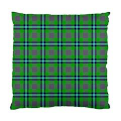 Tartan Fabric Colour Green Standard Cushion Case (One Side)