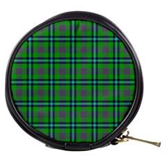 Tartan Fabric Colour Green Mini Makeup Bags