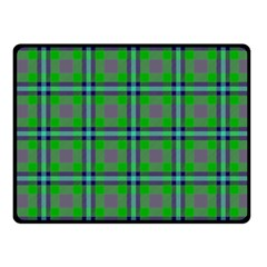 Tartan Fabric Colour Green Fleece Blanket (Small)