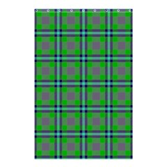 Tartan Fabric Colour Green Shower Curtain 48  x 72  (Small)