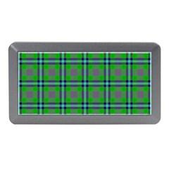 Tartan Fabric Colour Green Memory Card Reader (Mini)
