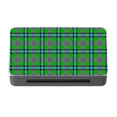 Tartan Fabric Colour Green Memory Card Reader with CF